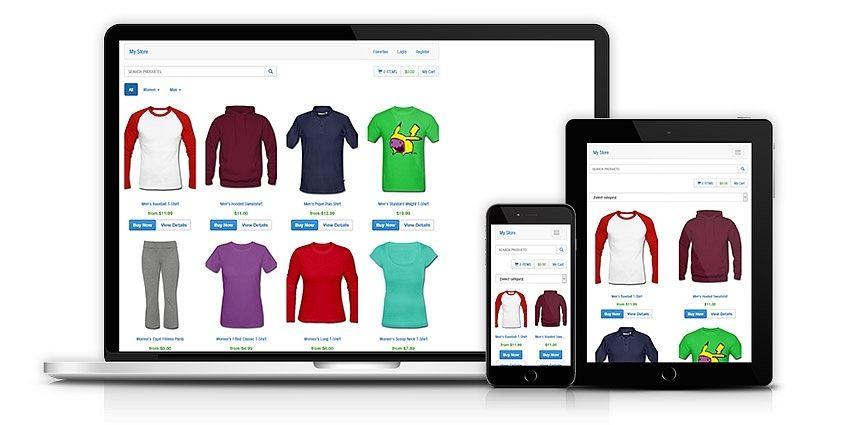 Mobile-optimized online store