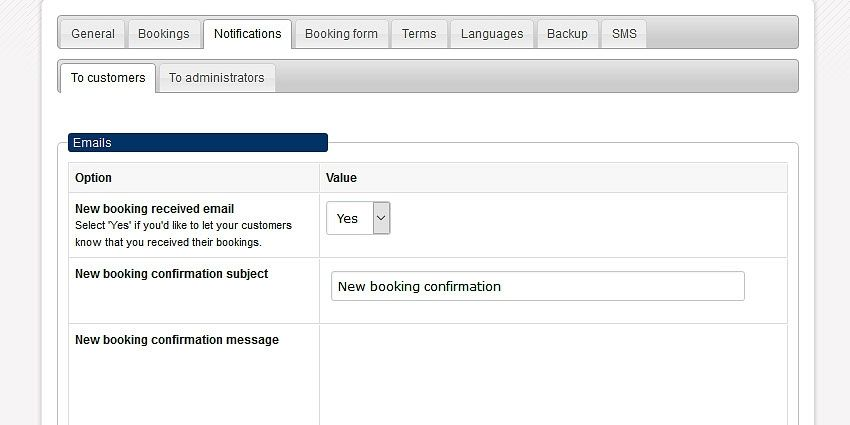 Email and SMS notifications